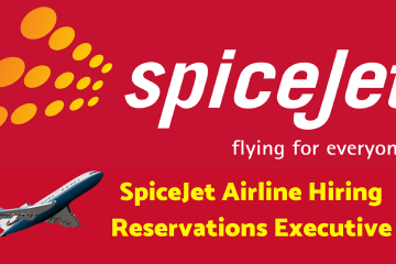 SpiceJet Airline Hiring Reservations Executive