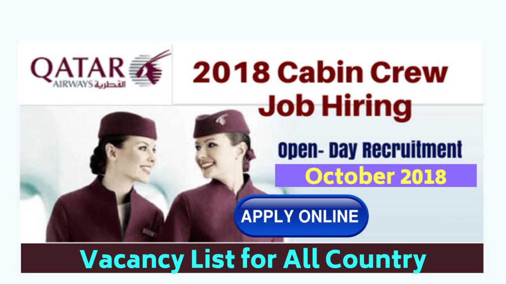 Qatar Airways Cabin Crew Jobs