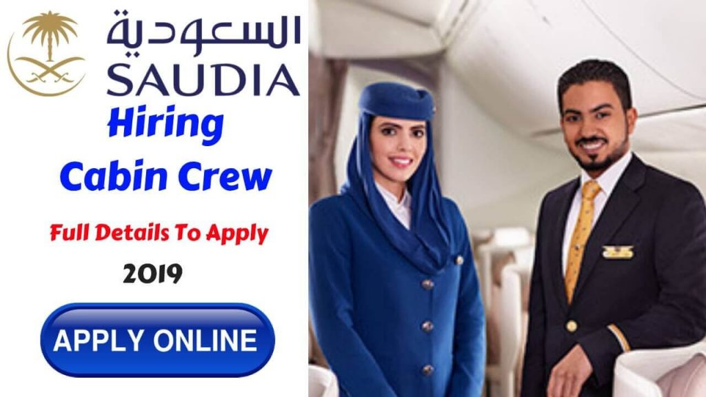 Saudi Airlines Careers as Male Cabin Crew - 2019