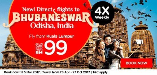AirAsia flight Bhubaneswar-Bangkok