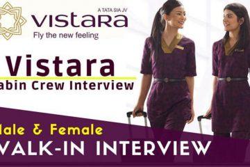 vistara cabin crew interview