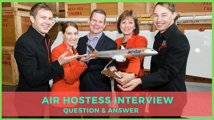 air hostess interview question